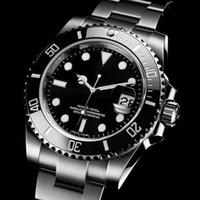 Quailty alta automática de zafiro de cristal mecánica de cerámica Negro Bisel de acero inoxidable de la fecha de cierre de 40 mm gremio de bloqueo 116610LN 116610 Relojes para hombre