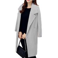 여성 트렌치 코트 2021 가을 겨울 패션 윈드 브레이커 코트 여성 한국어 긴 우아한 슬림 캐주얼 한 버클 오버 코트 E026