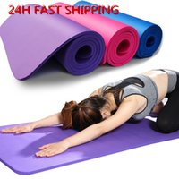 DHL frete grátis 183 * 61 centímetros NBR Yoga Mats perder peso cor sólida Anti-skid Ginástico Esporte saúde de alta qualidade FY6016
