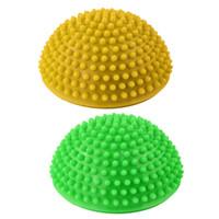2ST Yoga Halbkugel Körperliche Fitness Appliance Übung Balance Ball Punkt Massage Stepping Stone Gleichgewicht Pods GYM Yoga Pilates