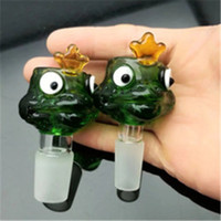 Frog cartoon glass bubble head Wholesale Glass bongs Oil Bur...