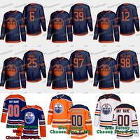 2019-20 Edmonton Oilers McDavid Adam Larsson 알렉스 치아 슨 콜비 동굴 다넬 간호사 제시 풀주 하르 비 2020 시즌 제 3 저지