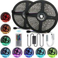 LED-Streifen 12V-Band LED-Licht-Streifen RGB-Band SMD 5050 2835 flexible 5M 10M Diode Band mit Fernbedienung Hintergrundbeleuchtung für Fernseher