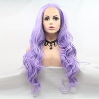 Hot selling fashion sexy long hair wig 24 inch purple loose ...