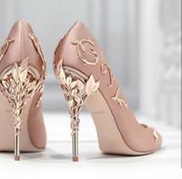 Neue Saison Designer Frauen Pumpen Braut Stilett-Schuhe Absatz-Schuhe für Hochzeit Abendgesellschaft Schuhe Luxus Sexy High Heel eden