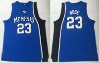 Erkekler Koleji 23 Basketbol Derrick Rose Forması Mavi Üniversitesi Memphis Tigers Formaları Üniforma Spor Ücretsiz Kargo
