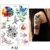 Flower Temporary Tattoos Stickers Body Art 3D Rose Tatoo Waterproof Bikini Decoration