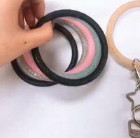 팔찌 열쇠 고리 실리콘 팔찌 체인 팔찌 열쇠 고리 라운드 키 홀더 스포츠 여자 선물 패션 쥬얼리 7 개 색상 DW4178