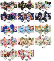 اكسسوارات للشعر 14colors الاطفال الرضع القوس الكبير حزام الأطفال الطباعة زهرة رباطات البوهيمي رئيس التفاف بنات الأطفال RRA3228