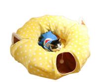 Juguete del gato Juguete del túnel Túnel para mascotas Divertido Granel Juguetes para mascotas pequeños Conejo portátil Túnel para mascotas Gato Camas Casa y dormir con pelota