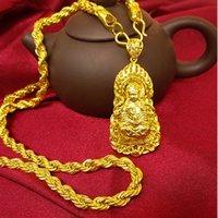 Autres bracelets Fashion Collier pour homme 14K Gold Chain Pendentif Bijoux pour colliers d'anniversaire de l'homme Pure Jaune Fine Cadeau