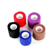 Одноразовые самоклеющиеся эластичные повязки для ручки с затяжкой трубки татуировки аксессуары случайный цвет