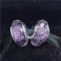 Fai da te perline a mano murano argento 925 Sparkling Facaded Vetro Di Murano Perle Charm Fits monili europei Pandora Bracciali-F01