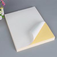 공장 가격 배송 레이블 A4 자기 접착 스티커 용지 광택 매트 흰색 빈 스티커 용지 라벨 인쇄 용지 100 매 / 가방