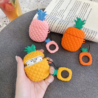 Per AirPods 1 2 Case Cute Cartoon Pineapple Auricolare Custodia per Apple Airpods 2 Cover Soft Protect Fundas con cinturino per dito