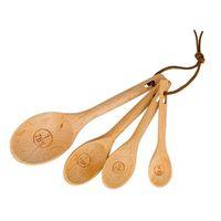4 шт./компл. буковая древесина мерные ложки набор выпечки посуда чай кофе инструменты для кухни оптом LX1510