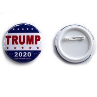 Presidente degli Stati Uniti Elezione Breastpin Tin Iron Stati Uniti Donald Trump Armband Round 2020 Badge America Great Again 1 5qf E1