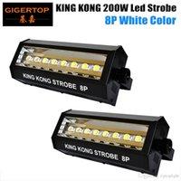 TIPTOP 2 Stück Mini 8x20w weiße Farbe LED Blitzlicht DMX Control Laufeffekt hohe Leistung führte Bühnenbeleuchtung LCD-Display