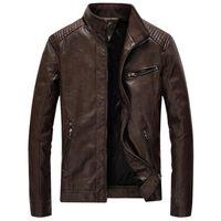 Marque Veste Homme Automne Hiver Hommes Veste en cuir Casual Col épais Feelce Pied Manteau Jaqueta Masculina Taille Plus Vêtements 5XL