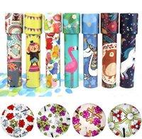Roterande färgglada kaleidoskop leksak lins fantasifulla tecknade barn magiska klassiska pedagogiska leksaker för barn