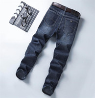 Fashion-luxe Imprimer Designer Mens Stretch Jeans Spring Long Taille Mid-Milieu Mens Jeans Homme Vêtements