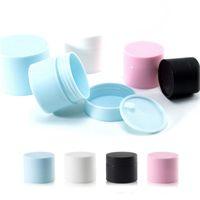 5G 15G 20G 30G PP Косметические кремовые банки с крышкой пустые лосьон контейнер высокого качества Черный синий розовый белый упаковочные бутылки