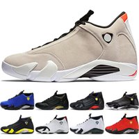 best sneakers a40f1 9f185 Zapatillas de baloncesto clásicas para hombre de Fusion Púrpura último tiro  retro Negro Fusion Varsity Rojo 14s XIV Playoffs Diseñador Zapatillas de  deporte ...