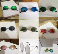 Kinder im Freien Brillen Reflektierende Metallrahmen Sonnenbrille Sonnenbrille Kinder Kühle Sonnenbrille Gläser Mode Spiegel Sonnenbrille D807