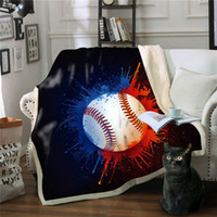 Wholesale Balls Sports Blanket Thicken Soft 3D Printed Blank...