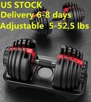Gewicht Einstellbare Hantel 5-52.5lbs Fitness Workouts Dumbbells Ihre Stärke, Ton und bauen Sie Ihre Muskeln