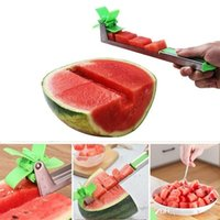 Watermelon Slicer Cutter Stainless Steel Knife Corer Tongs Windmill Watermelon Cutting Refreshing Cube Fruit Vegetable Tools Kitchen Gadget