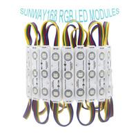 IP68 LED RGB Módulos de luzes DC12V 3 PCS SMD5050 levou módulos de injeção de iluminação à prova d'água Backlights pixel para Channer Letter