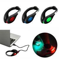 USB 충전 LED 신발 야외 스포츠를 실행하기위한 LED 밝은 플래시 라이트 경고 밤 조깅 안전 클립
