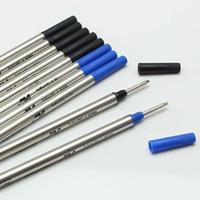 جودة عالية (10 أجزاء / وحدة) 0.7 ملليمتر أسود / biue m 710 عبوة لأسطوانة الكرة القلم القرطاسية الكتابة الملحقات السلس القلم