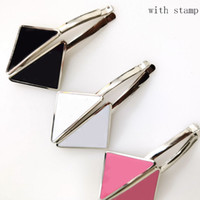 Hot Selling Triangle Hair Clip with Stamp Women Letter Trian...