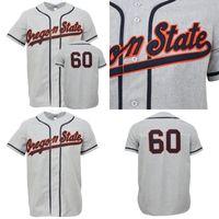 OSU OREGON Eyaleti Beavers 1960 Yolu Baseballjersey 100% Dikişli Nakış Vintage Beyzbol Formaları Özel Herhangi Bir Ad Herhangi Bir Numara Ücretsiz Kargo