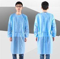 DHL Ship водонепроницаемая изоляция одежда защитный костюм манжета уздечка защитная одежда антистатические одноразовые халаты защитные костюмы продукты