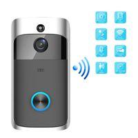 2020-HD 720P WiFi vidéo Sonnette caméra à vision nocturne IR 3 voies Fonctionnement sur batterie Téléphone de porte Audio Interphone