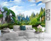 3d Wallpaper Custom Photo Mural Beautiful Landscape Customized Beautiful Atmospheric Interior Decoration Wallpaper