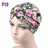 Spring Fashion Women Flower Printing Turban Modal Cotton Tur...
