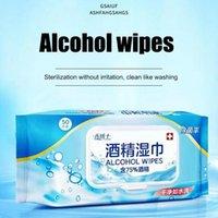 50pcs / Paquet désinfection Portable alcool écouvillons Pads lingettes de nettoyage Nettoyant antiseptique pour la stérilisation Secourisme Home