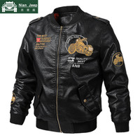 New Motorcycle Leather Jacket Men Spring Autumn Style Bomber...