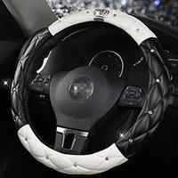 6 Couleur De Voiture Volant Diamant Blingbling Auto Couverture De Volant Anti-Slip universel Femmes De Voiture-styling Accessoires