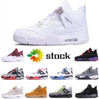 2020 New Best Legal Shoes Grey 4 Mens Basketball Bred cimento branco 4s IV Designer sapatilhas esportivas Running Shoes Mulheres Trainers Tamanho 36-46