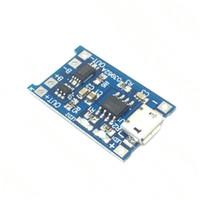 Freeshipping 100 unids Micro USB 5 V 1A 18650 TP4056 Cargador de Batería de Litio Módulo Junta de Carga Con Protección de Funciones Dobles