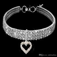 Collier bling élastique strass collier de chien en alliage diamant Puppy Pet Colliers Laisses pour petits chiens S M L Bijoux Accessoires pour chiens