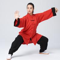 중국어 태극권 의상 타이지 복싱 정장 쿵후 균일 아침은 남성 여성 아동 소년 소녀 아이 성인을위한 의류 무술 복장을 행사