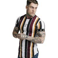 Mens Verão Sporting T-shirt de funcionamento de Fitness Musculação Shirts Men mangas curtas fino de algodão T Academias roupas tamanho M-XXL