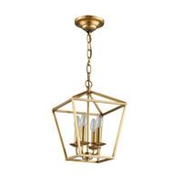 الماس نمط النحاس النحاس الذهبي شنقا سلسلة قلادة ضوء مصباح الطيور قفص عش الطعام غرفة المعيشة الذهبي قلادة ضوء مصباح
