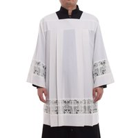 Holy Church Priest White Alb Vestment Clergy Mass Lace Joint...